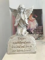 ~❤️~MEMORIAL Inspirational Angel Statue On Inscription ceramic Resin 20cm~❤️~