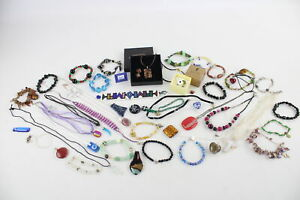 45 x Vintage & Retro GLASS Jewellery inc. Foiled, Murano, Faceted, Beads