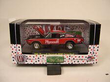 RED 1968 PLYMOUTH HEMI BARRACUDA M2 MACHINES 1:64 SCALE DIECAST METAL DRAG CAR
