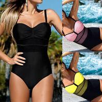 Womens Swimwear Push Up Bikini Padded Bra Swimsuit One Piece Monokini Bathing US