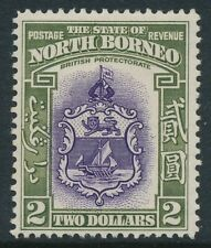 SG 316 North Borneo 1939 $2 Violet and Olive green fine unmounted mint CAT £300