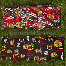 Cornhole Bean Bags Set of 8 ACA Regulation Bags Chicago Blackhawks  Free Ship!!