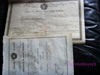 CONGÉ & CERTIFICAT DE BONNE CONDIUTE Chasseur au 5° Rgt INFANTERIE LEGERE 1832