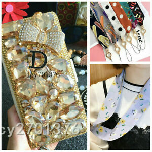 For Google Pixel 3 4 5 3a 4a 6 Jewelled Crystal leather wallet flip Case Cover