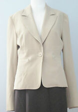 DENISE Size 10 Beige Fully Lined Blazer (Made in Canada)
