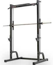 MEGATEC Smith Machine Half Rack MT-MP Squat Bench Press Chin Ups Cage Gym Stand