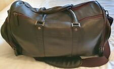 J by Jasper Conran - Large Brown Leather Men's Holdall Bag