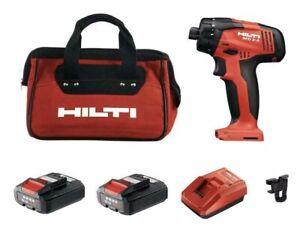 Hilti SFD 2-A 12 Volt Impact Driver Set BRAND NEW + Two 2.6 Ah Batteries Charger