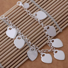 charms heart cute lady lovely silver fashion women high quality Bracelet Jewelry