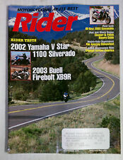 RIDER MAGAZINE BACK ISSUE HARLEY DIRT HONDA 2002 NOVEMBER BUELL VSTAR 1100