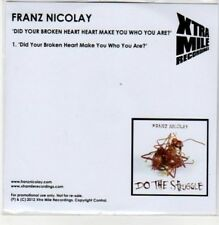 (DC118) Franz Nicolay, Did Your Broken Heart Make You Who You Are? - 2012 DJ CD