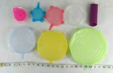 New listing Reusable Silicone Lids Set Of 6, Garlic Peeler and Small Funnel Included Also