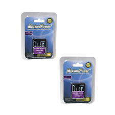 TWO BATTERIES for PANASONIC DMW-BCF10 Lumix DMC-FS12 BATTERY X 2