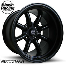 15x8 15x10 BLACK RACING BR8 Wheels Ford Falcon Mustang Charger Mopar Superlite