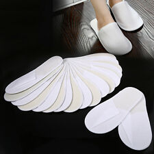 10 Pairs/Lot Spa Hotel Guests Disposable Slippers Household Travel Shoes White
