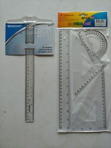 """Plein Air 12"""" T-Square And Triangles Drafting Set"""