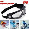 US Winter Snowboard Snow Sport Goggles Ski Adjustable Sun Glasses Eyewear Clear