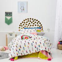 Adairs Kids Rainbow Wish Doll Single Quilt Cover Set Multi BNIB RRP $99.99