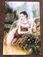 Luis Royo PRINT Fantasy Nude Art Erotic Pinup Sexy Tattoo Piercing Woman Warrior