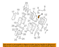 MERCEDES OEM 08-14 C300 Rear Seat-Seat Back Frame Reinforcement 2049230016