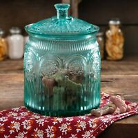 Glass Cookie Jar Turquoise Kitchen Safe Storage The Pioneer Woman Adeline