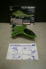 VINTAGE 1989 HASBRO GI JOE MUDFIGHTER JET VEHICLE WITH INSTRUSTIONS BLUEPRINTS