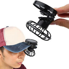 Hat Mini Clip Solar Sun Energy Power Panel Cell Cooling Fan Cooler Outdoor Tools