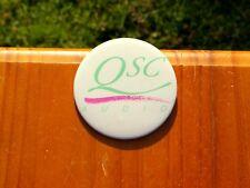 "QSC Audio 3"" Advertising Lapel Pin Pinback Button"