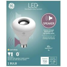NEW GE LED Speaker Bulb One Bulb + One Function 65W BR30 Remote NEW Bluetooth