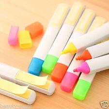 1X Random Color Fluorescent Highlighter Marker Pens School Office Supplies