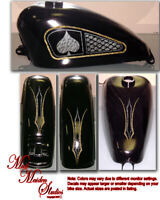 Motorcycles gastank and fender decal set, Honda, Harley, Victory, Yamaha