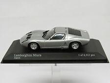 Lamborghini Miura 1986 Zilver 1/43 Minichamps 430103008