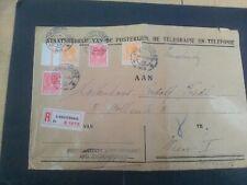 Nederland 180 en 187 beide 2x op aanget. brief Den Haag- Wenen 1929 (gevouwen)