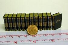 1701# Nostalgie Deko-Bücherset mit 12 Büchern - Puppenhaus-Puppenstube - M 1zu12