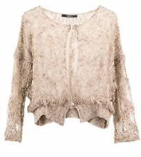 NWT Gorgeous Delicate Italian Jumper Top Beige Size S 8 10 SISTE'S RRP $266
