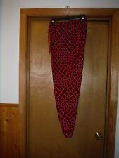 Womens Pajama Pants size LG Croft & Barrow Red Black Plaid 92% rayon 8% spandex