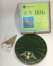"""1973 Sundial By Chadwick 9� Aluminum """"sunny hours� New In Box"""