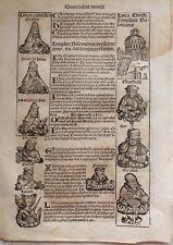 IRAK , BABYLON, BABILONIA,   H. Schedel.Grabado incunable, 1493