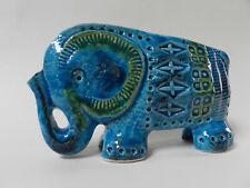 éléphant en céramique Aldo Londi pour Bitossi Italie vintage 1970 Rimini Blue