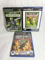 Army Men: Sarge's Heroes 2 Green Rogue and Sarge's War Bundle PS2 Playstation 2