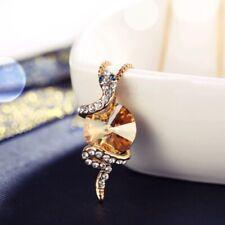 18K Rose Gold GF Made With Swarovski Crystal Round Cut Stunning Snake Necklace