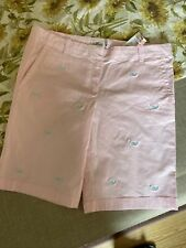 Nwt Vineyard Vines Girls Island Shorts Peony With Whales.16 Also Fit Women 0-2