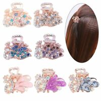 Rhinestone Peacock Jewelry Mini Hair Clip Crystal Hairpins Metal Claw Barrette