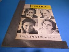 Playbill 1968 Longacre Theatre I Never Sang For My Father Hal Holbrook S6527
