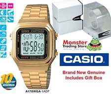 Casio Unisex Vintage Retro Gold A178wga Bling Digital Dual Time WR