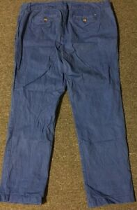 Women's Tommy Hilfiger Ankle Ala Cheville Flag Chino Pants 14 Blue Sport