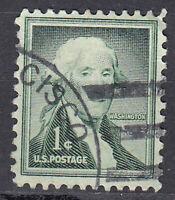 USA Briefmarke gestempelt 1c George Washington President Rundstempel / 3263