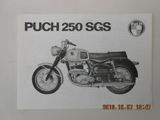 puch 250 sgs  . catalogue publicitaire . advertising catalog