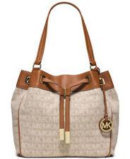 Michael Kors MARINA Large Drawstring Tote Handbag for Women's, Dark khaki
