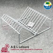 Caravan Camping Mini Dish//Plate Drainer Washing Up Stand Plastic Coated Rack